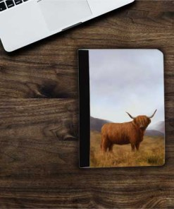 Highland Collection - Flip iPad Case (Highland Cow) Personalised Gift