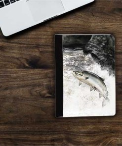 Highland Collection - Flip iPad Case (Leaping Salmon) Personalised Gift