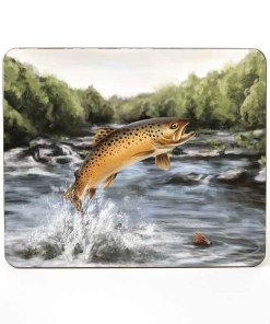 Highland Collection – Table Mat (Brown Trout) Personalised Gift