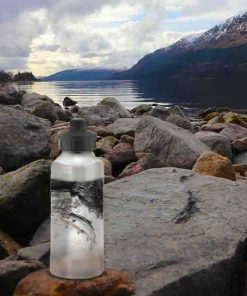 Highland Collection - Aluminium Reusable Environmentally Friendly Water Bottle (Leaping Salmon) Personalised Gift