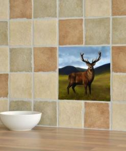 Highland Collection - Ceramic Tile (Stag)