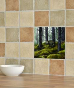 Highland Collection - Ceramic Tile (Wild Cat)