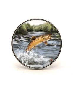 Highland Collection - Circular Magnet (Brown Trout)