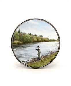 Highland Collection - Circular Magnet (Fly Fishing)