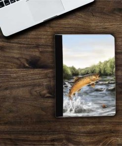 Highland Collection - Flip iPad Case (Brown Trout) Personalised Gift