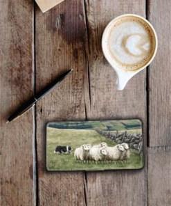 Highland Collection - Flip Phone Case (Sheep & Sheepdog) Personalised Gift