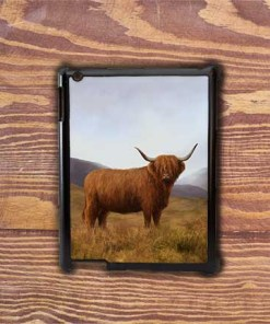 Highland Collection - iPad Shell Case (Highland Cow) Personalised Gift