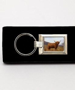 Highland Collection - Lozenge Keyring (Highland Cow)