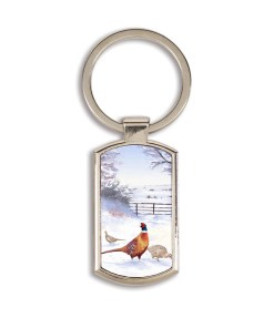Highland Collection - Lozenge Keyring (Pheasant)
