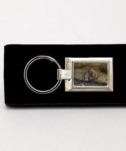 Highland Collection - Rectangular Keyring (Otter)