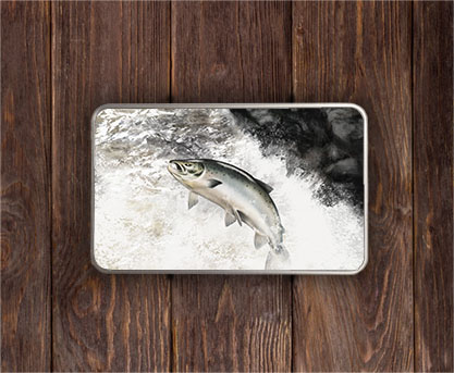 Highland Collection - Rectangular (Leaping Salmon) Personalised Gift