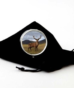 Highland Collection - Round Pill Box (Stag)