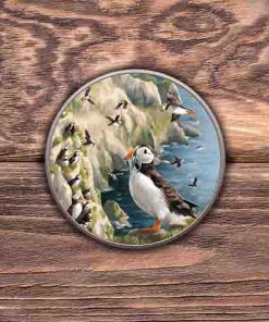 Highland Collection - Round (Puffin) Personalised Gift