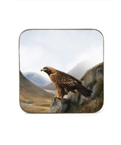Highland Collection - Square Coaster (Eagle) Personalised Gift
