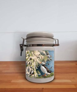Highland Collection - Storage Jar Container (Puffin) Personalised Gift
