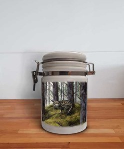 Highland Collection - Storage Jar Container (Wild Cat) Personalised Gift