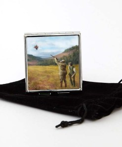 Square Pill Box Personalised Gift (Clay Shooting)
