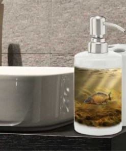 Bathroom Set Toothbrush Holder and Soap Dispenser (Common Carp) Personalised Gift