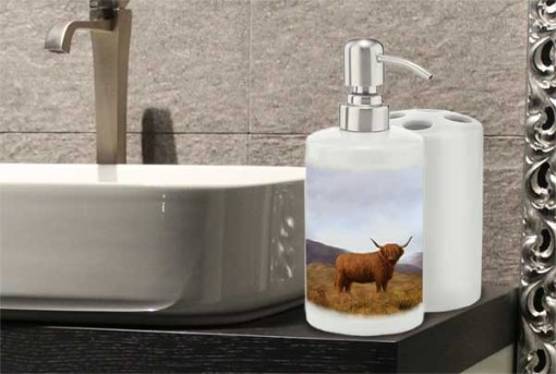 Highland Collection - Bathroom Set Toothbrush Holder and Soap Dispenser (Highland Collection) Personalised Gift