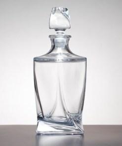 Personalised Engraved Modern Twisted Decanter Crystal Scotland UK Custom Customised Gift Gifts Whisky Whiskey Scottish