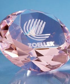 "Engraved Pink ""Diamond"" Paperweight"