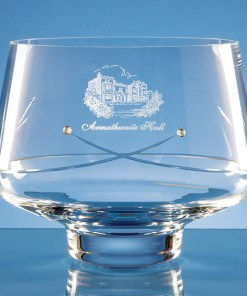 Personalised Engraved Diamante Tapered Bowl (Kiss) Crystal Scotland UK
