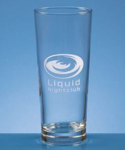 Personalised Engraved Straight Sided Pint Beer Glass Crystal Scotland UK Custom
