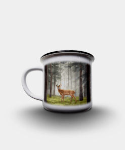 Country Images Personalised Custom Printed White Black Mug Scotland Cheap Highland Collection Roe Buck Roebuck Roebucks Stag Stags Deer Wildlife Gift Gifts 2
