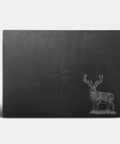 Country Images Scotland Custom Personalised Slate Placemats Place Mat Placemat Table Tablemats Engraved Scottish UK Stag Stags Deer