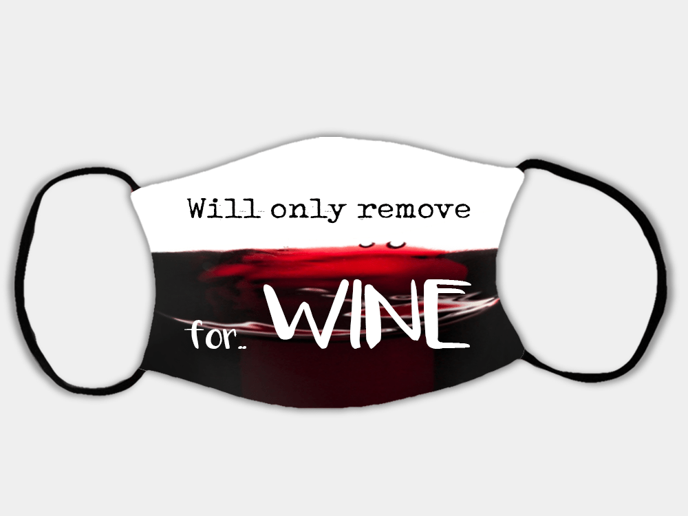 Country Images Personalised Custom Face Mask Masks Facemask Facemasks UK Scotland Gifts Remove for Wine