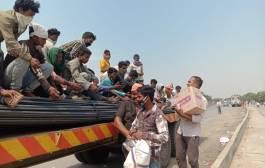 दिल्ली से घर पहुंचने के लिए ट्रक की छत पर सवार हुए थे मजदूर, सड़क हादसे में दो की दर्दनाक मौत