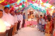 विंध्यवासिनी माँ क्लब की ओर से दुर्गा पूजा का किया गया आयोजन, मुख्य अतिथि के तौर पर पहुंचे प्रवासी सेल के चेयरमैन मोहम्मद गुलाब