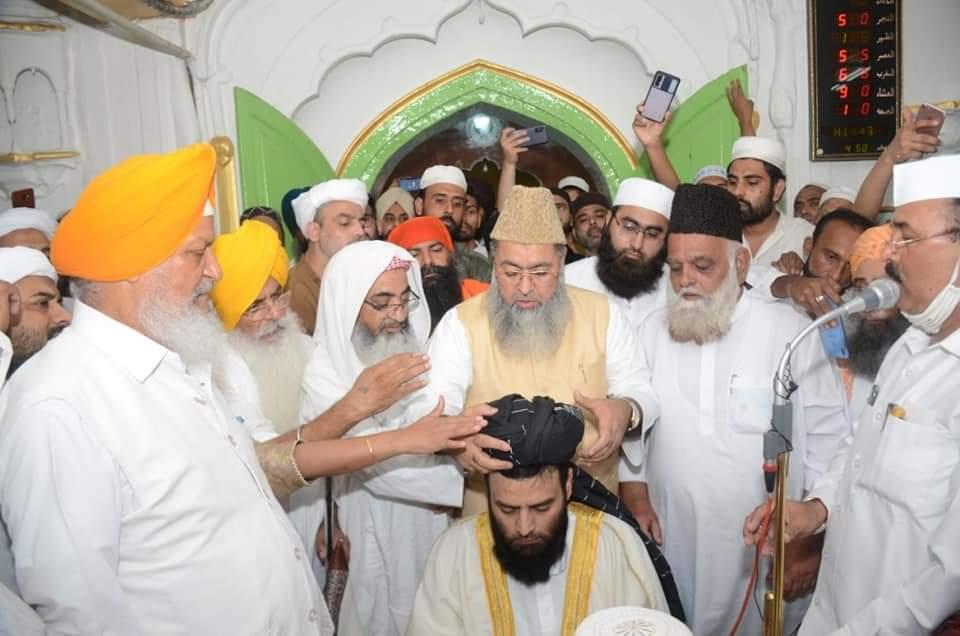 चंडीगढ़ : मौलाना मुहम्मद उसमान रहमानी लुधियानवीं बने शाही इमाम पंजाब - सभी धर्मो के मुखियों ने की दस्तारबंदी