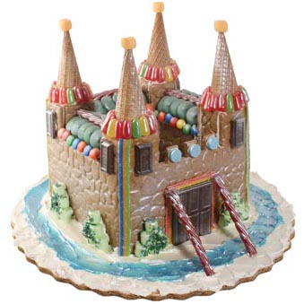 Gingerbread Castle Country Kitchen SweetArt Cake Candy