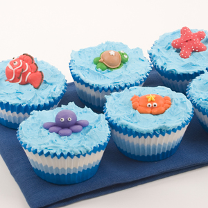 Yunko Sea Creature Cookie Cutters Plungers For Cake Decoration Fondant Bakeware