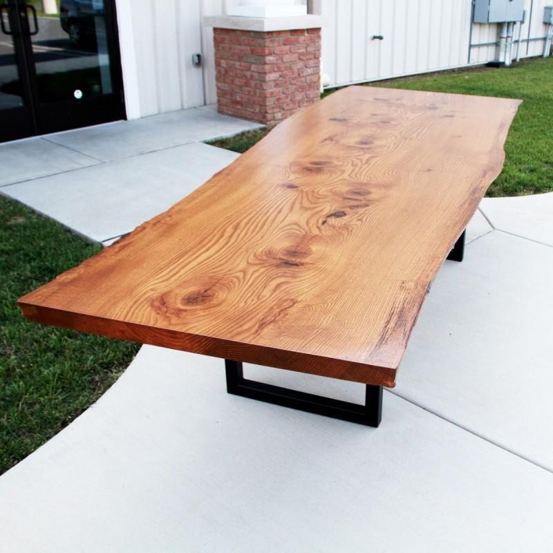 Live Edge Pin Oak Table Solid Hardwood Furniture