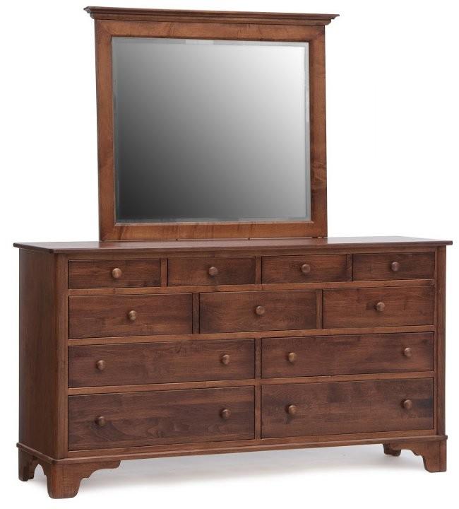 Yorktowne Triple Dresser And Landscape Mirror Amish