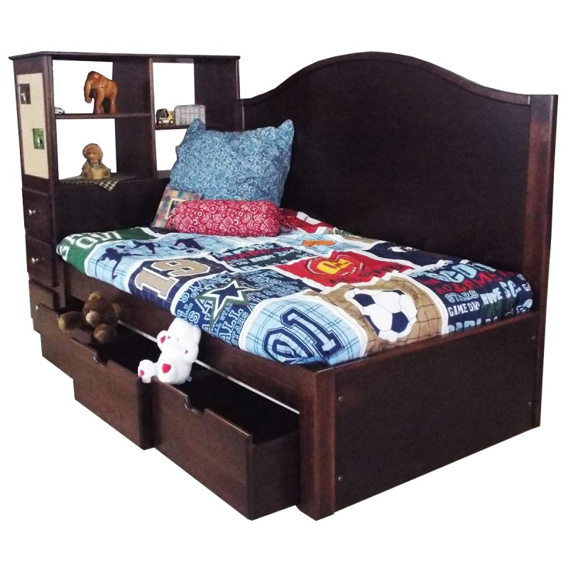 Childs Madison Platform Bed Set Amish Made Captains Bed Handcrafted Bed Country Lane