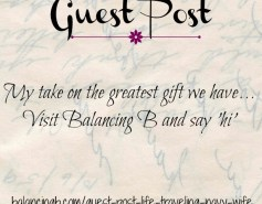 Guest Post on BalancingB