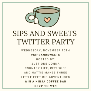 It's the Sips and Sweets Twitter Party!