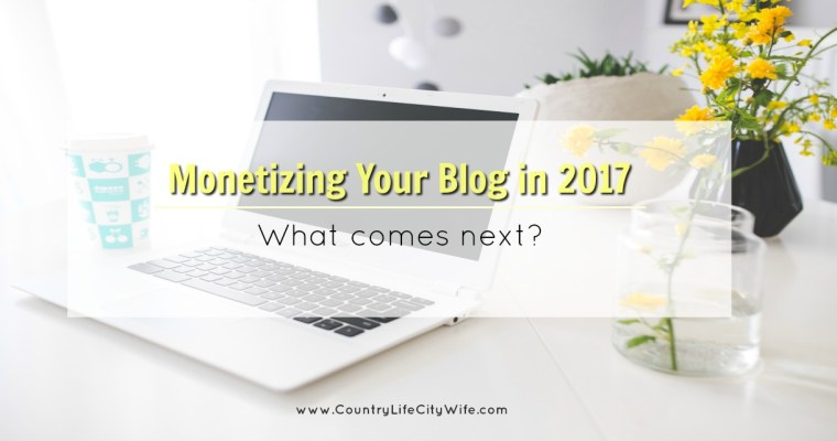 Monetizing Your Blog in 2017