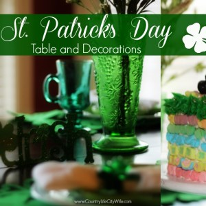 St. Patrick's Day Table and Decorations