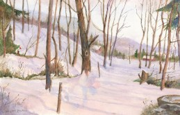 """""""Pennsylvania Winter"""" Painted by William Palmer-a resident of Country Meadows of Allentown"""
