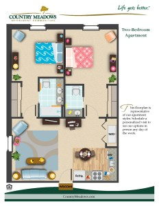 Two Bedroom Apartment with Kitchen/Laundry Area