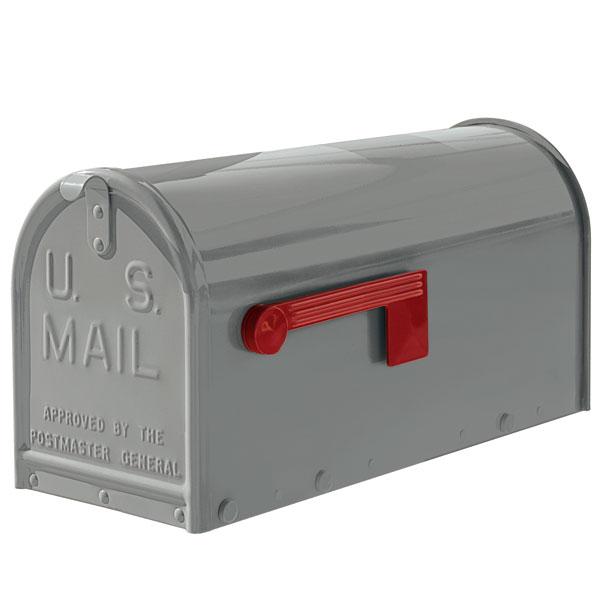 A Grey oversized Janzer Mailbox