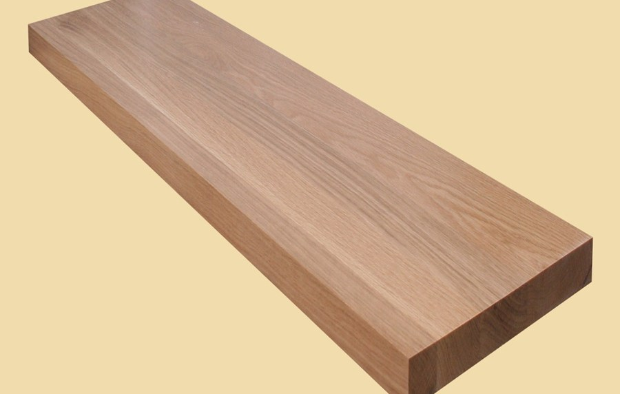 Custom Size White Oak Extra Thick Stair Tread Prefinished | Oak Stair Treads For Sale | Hardwood Lumber | Risers | Wood Stair | Stair Parts | Wood