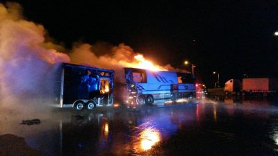 Eli Young Band Bus Fire on Country Music News Blog