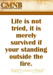 Garth Brooks - Life is not tried, it is merely survived if you're standing outside the fire.