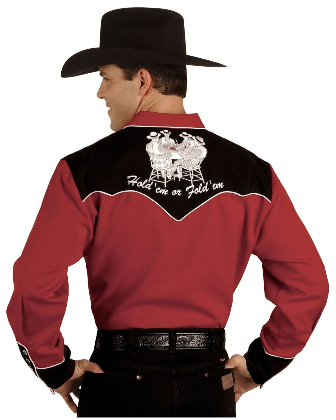 Download Scully Poker Cards Embroidery Retro Western Shirt ...