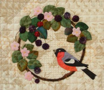 Blackberries and bullfinch
